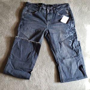 NWT Calvin Klein Jeans Sz 8 flare jeans
